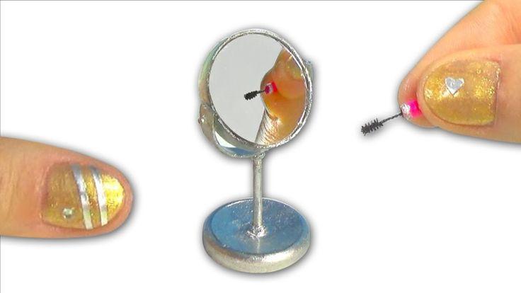 DIY Miniature vanity mirror (rotating!) - How to make it! - Tutorial - Y...