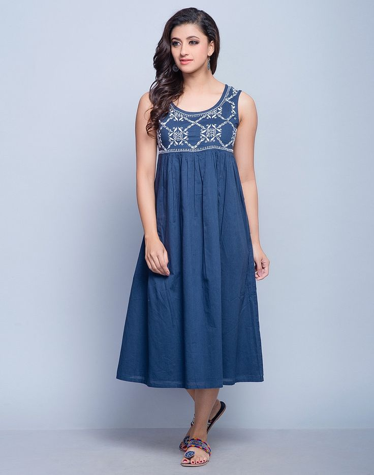Cotton Mull Chikankari Dress