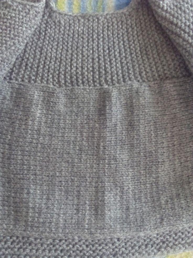 Nunca he tejido una chaqueta en una sola pieza y después de ver lo bien que le quedó a creativaatelier ..., no pude resistirme...
