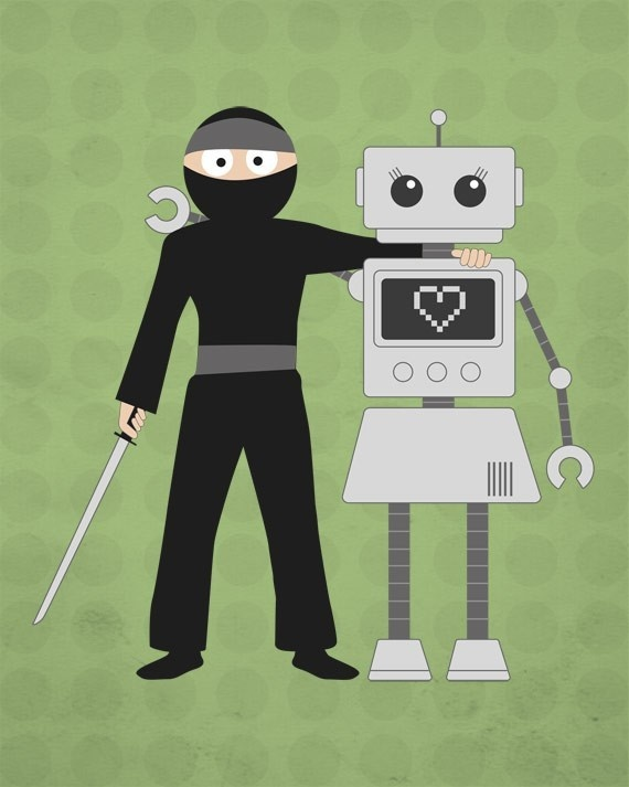 Ninjas and Robots are Friends
