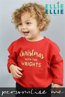 Red Personalised Childrens Family Christmas Jumper (694421) | £20