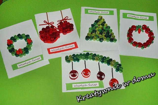 Zakręcone kartki świąteczne/ Christmas cards/ Christmas craft  | Kreatywnie w domu
