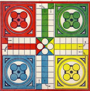 old board game - ludo