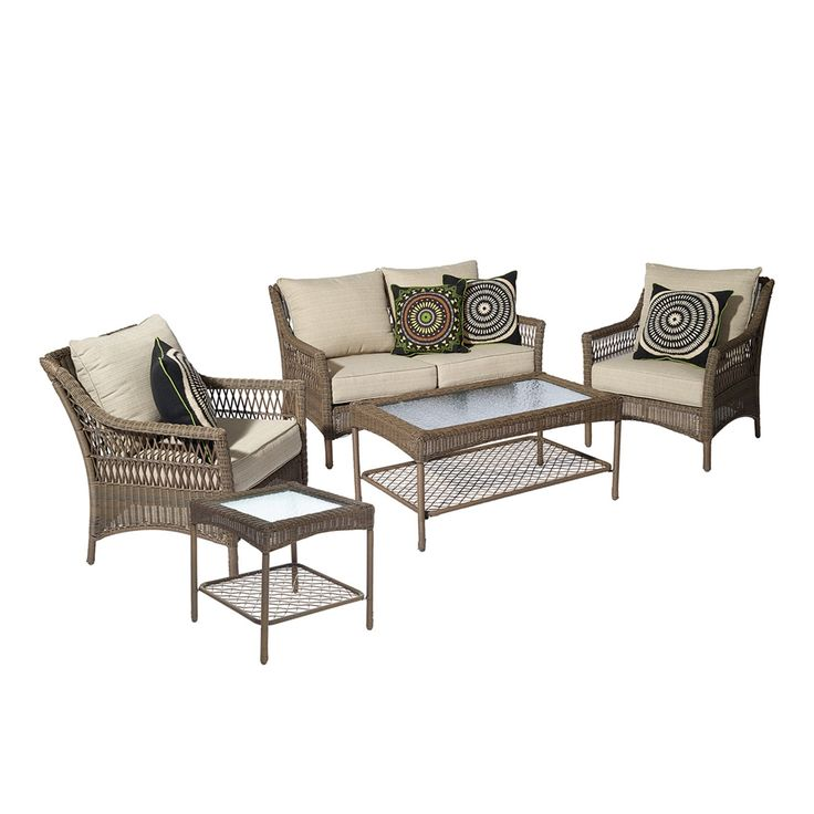 Shop allen + roth  Claremont 5-Piece Patio Conversation Set at Lowe's Canada. Find our selection of outdoor conversation sets at the lowest price guaranteed with price match + 10% off.