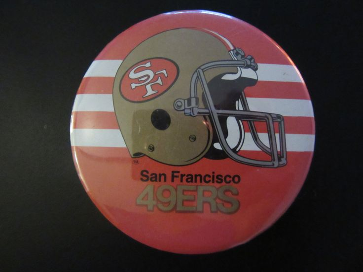 Vintage San Francisco 49ers Button, San Francisco 49ers Fan Button, Vintage 49ers Button, Vintage 49ers, San Francisco 49ers, Vintag NFL by UNBROKENPAST on Etsy