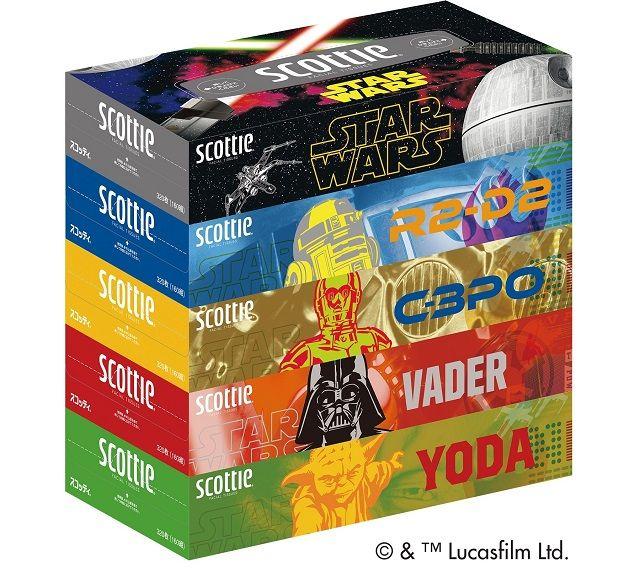 image:『スター・ウォーズ』のR2-D2やC-3POがティシューのパッケージに