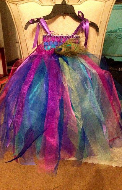 Peacock flower girl dress | Flickr - Photo Sharing!