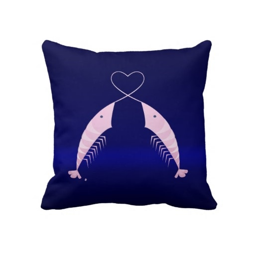 Mr. Shrimp in Love by Gréta Thórsdóttir - Pillow from Zazzle