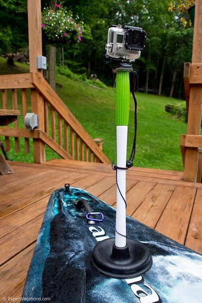 Toilet-plunger mount !!!  Favorite GoPro Travel Accessories, By Matthew Karsten