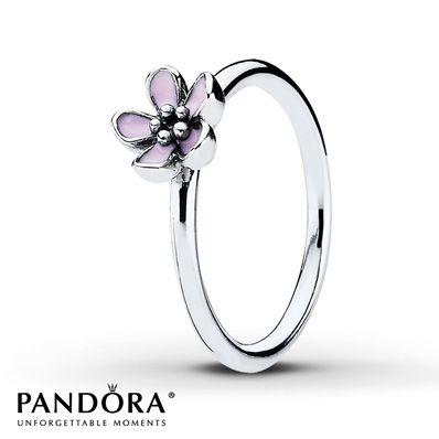 Pandora Ring Pink Enamel  Sterling Silver $45