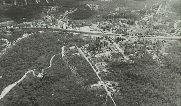 Aerial View, Hazelbrook - Looking North 1960s?