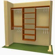 Projeto de armário entre duas paredes