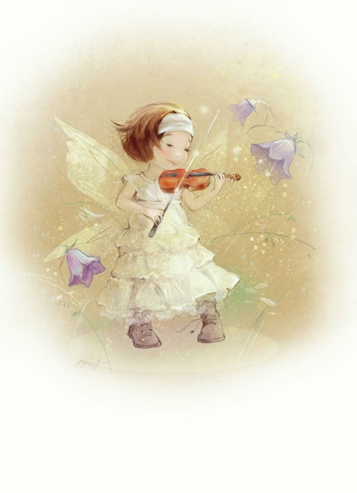 Music Fairy | Kate Babok | Representing leading artists who produce children's and decorative work to commission or license. | Advocate-Art