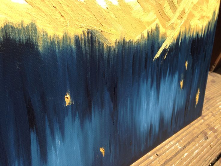 Really cool Original Abstract Oil Painting with Gold and Navy Paints by TheOilery on Etsy!