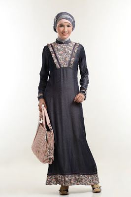 Gamis Batik Kombinasi Batik Dress Modern In 2018 Pinterest