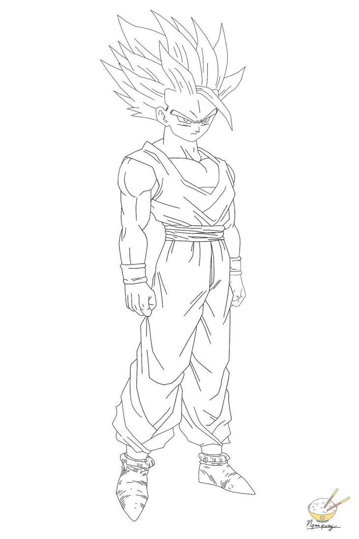 Dragon Ball Gohan 60 By Songohanart On Deviantart Dragon Coloring Page Coloring Pages Dragon Ball Z