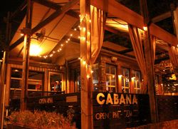 {Cabana Nashville | Located at 1910 Belcourt Ave. Nashville, TN 37212. For reservations, call (615) 577-2262} Cabana is chic, elegant, and a must for bachelorette parties. The cabanas are the heart of the Cabana dining experience. Semi-private booths with pillows and curtains, each cabana has its own TV and ipod/music player hook-up. Watch your favorite TV show, bring in your own DVD to watch, or be a DJ. Tips: On Friday and Saturday there is a $250 spending minimum in the Cabanas.