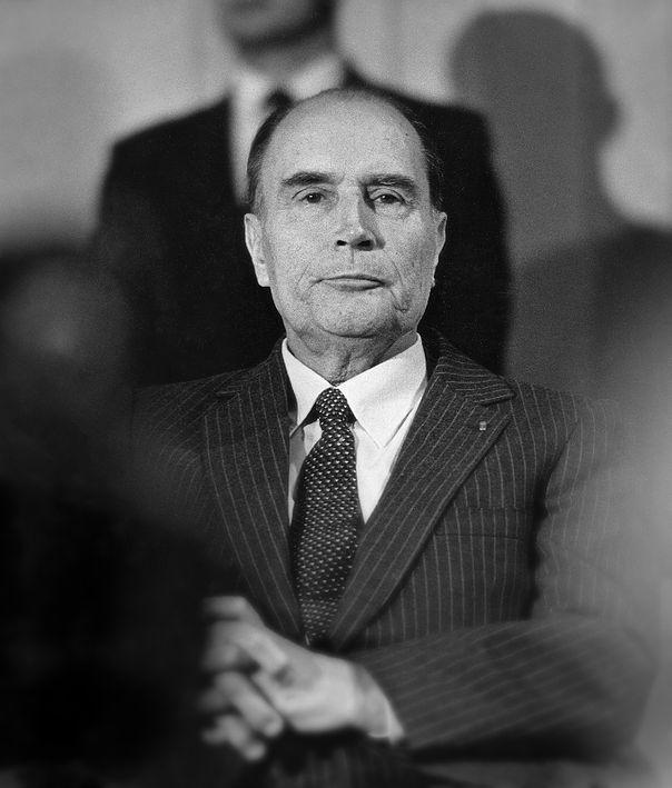 François Mitterrand, président de la république française, 1982. © Franck Pédersol