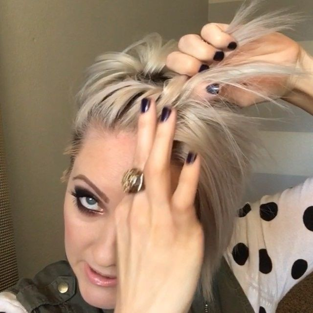 Next clip from the previous post. You can do this same technique with multiple twists like you have seen in some of my pictures. #hairtutorial #shorthairtutorialmonday #nothingbutpixies #dirtyhair #dirtyhairdiaries #shorthair #pixiestyles #twist #emilyandersonstyling