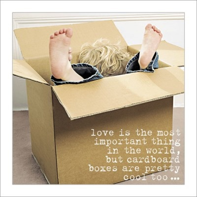 Love and Cardboard Boxes Greeting Card from Life is Sweet