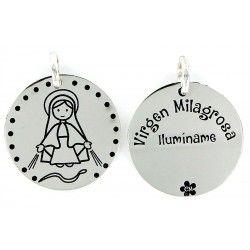 Ideas de regalos para la Comunión - Colgante de Plata Virgen Milagrosa