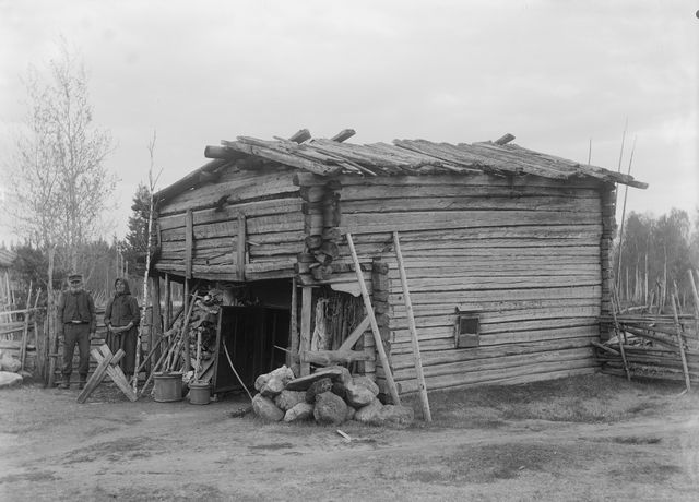 riihisauna Jalasjärven Keskikylässä Sirelius U. T. 1909