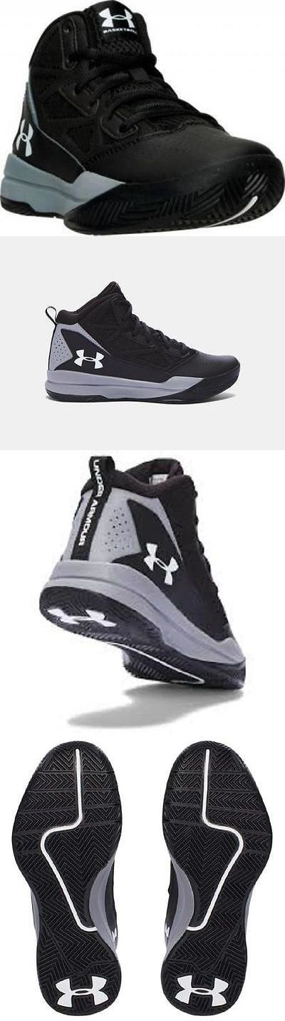 Boys Shoes 57929: Boy S Youth Under Armour Jet Black Gray Athletic Basketball Casual Shoes New -> BUY IT NOW ONLY: $35.99 on eBay!