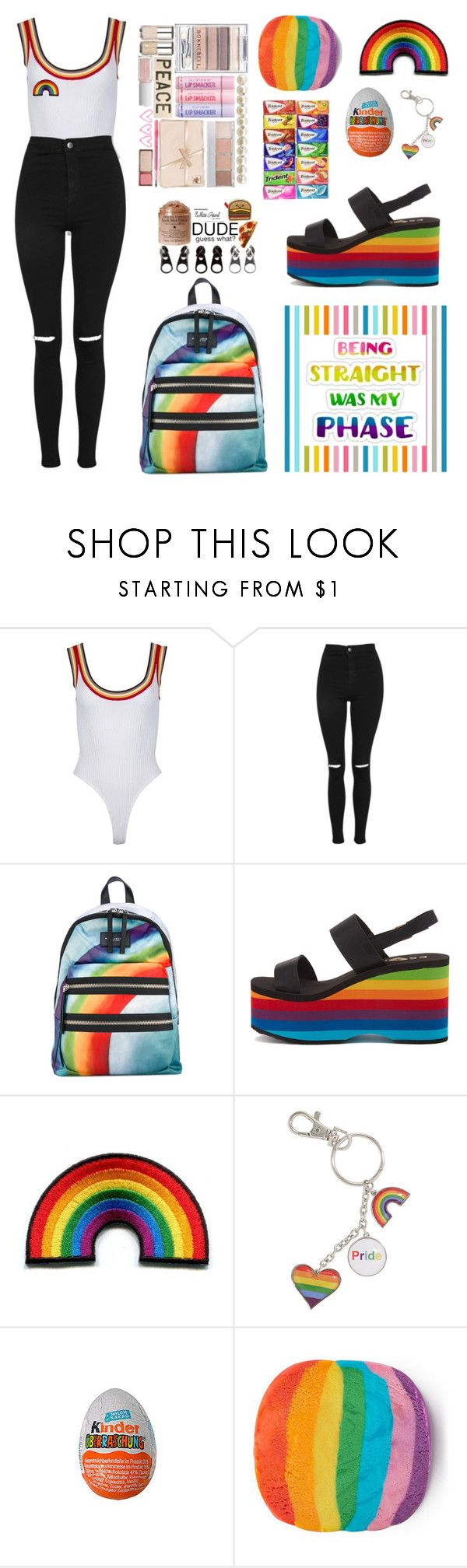 """""""Untitled #51"""" by lydiakounelaki ❤ liked on Polyvore featuring Topshop, Marc Jacobs, Rocket Dog and pride"""