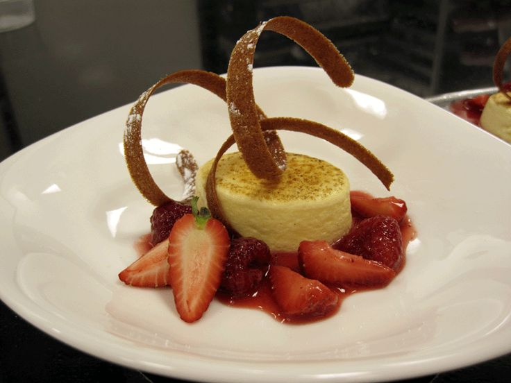 The Pastry Case plated dessert. Simple and elegant ...