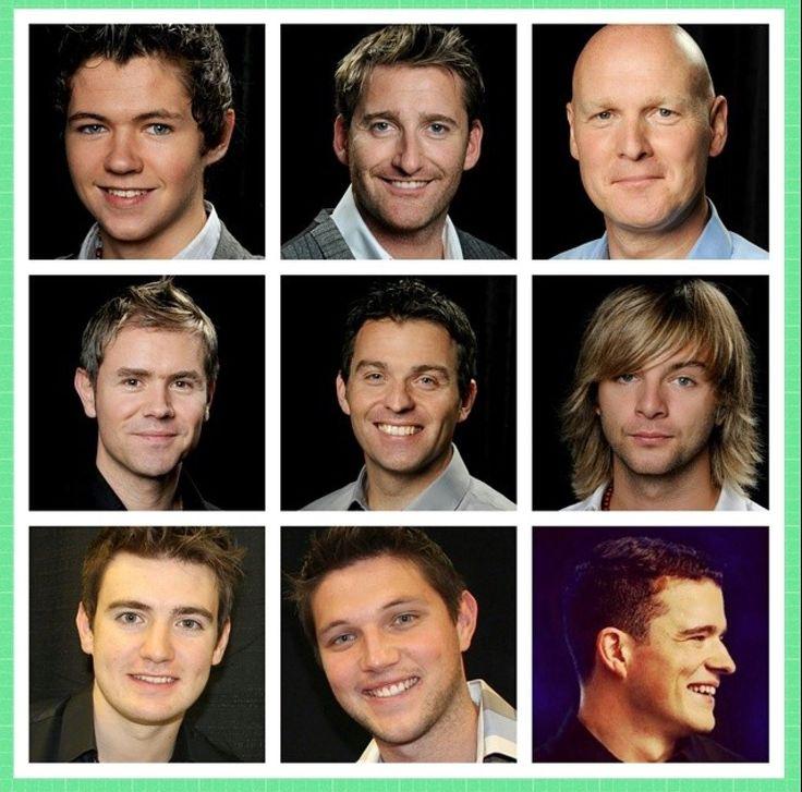 The men of Thunder! Damian McGinty, Paul Byrom, George Donaldson, Neil Byrne, Ryan Kelly, Keith Harkin, Emmett Cahill, Colm Keegan, Emmett O'Hanlon