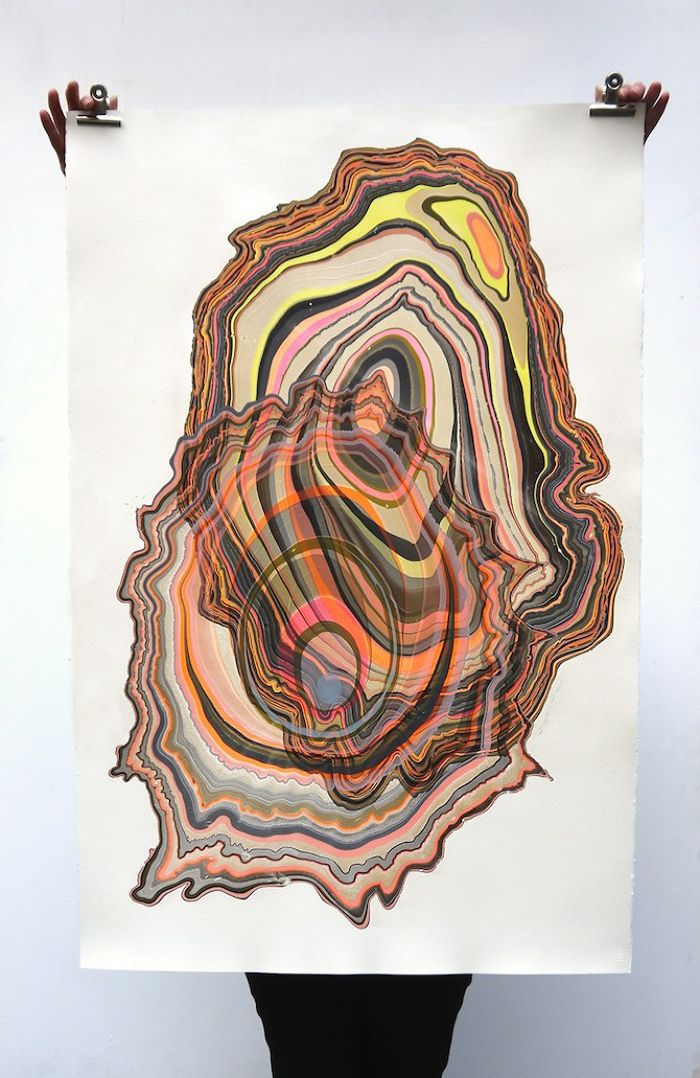One Of A Kind Artworks Which Look Like Vibrant Colorful Tree Cross Sections