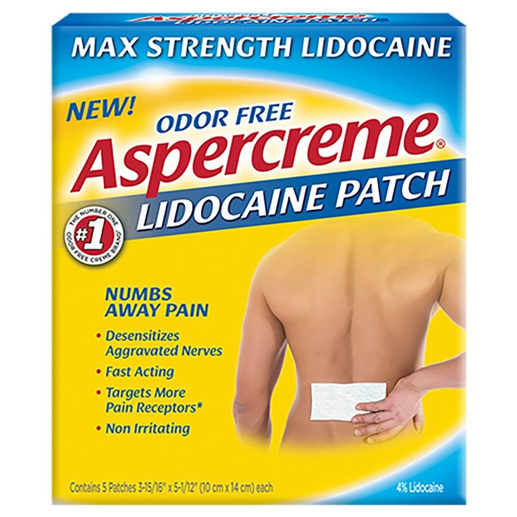 Aspercreme 4% Lidocaine Odor Free Pain Relief Patch - 5 Count