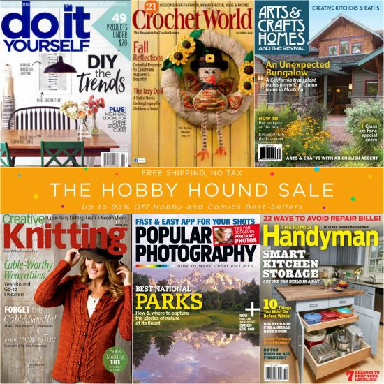Discount Mags Sale – Hobby Magazine Sale, thru Saturday!
