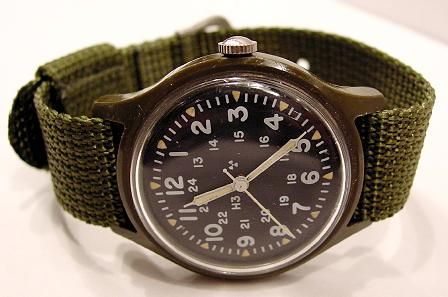Vintage Timex Military Watch - and probably still ticking.