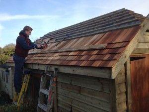 Hipped roof garage, The Wooden Workshop, Oakford, Devon (1)
