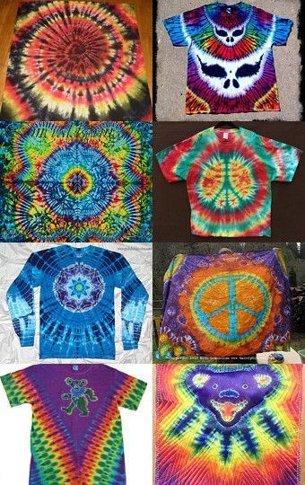 Just some tie dye ideas I might try.