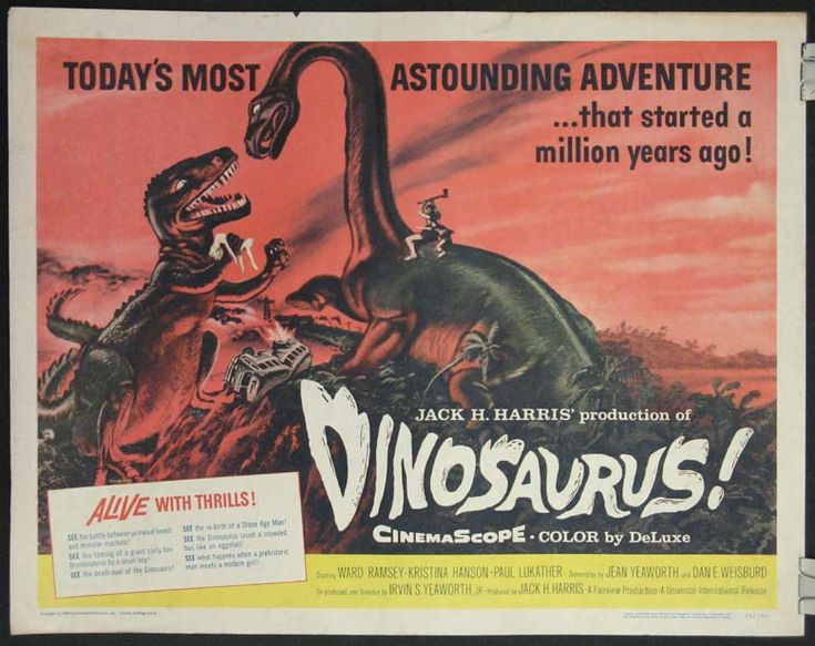 all sci fi movies | DINOSAURUS! Movie Poster (1960) || SCI-FI Movie Posters @ FilmPosters ...
