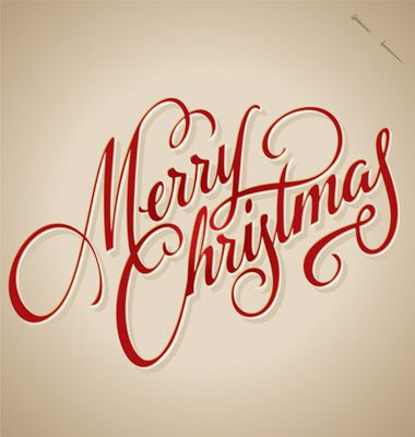 MERRY CHRISTMAS hand lettering   Community Post: 10 Coolest Calligraphic Xmas & New Year's Greetings