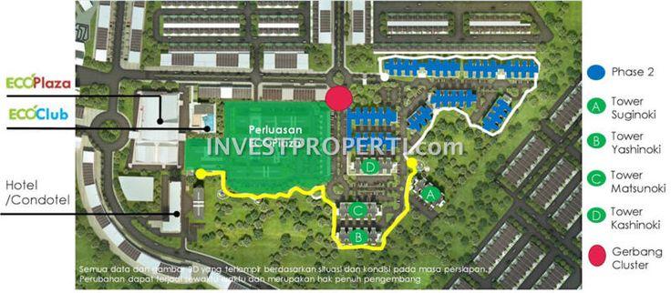 Siteplan EcoHome Apartemen CitraRaya Tangerang.