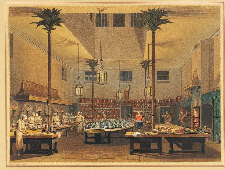 Painting of The Royal Pavilion, Brighton, East Sussex: The Kitchen