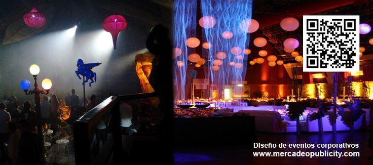 Diseño de eventos corporativos, activación de clientes, re lanzamiento de negocios, mejora de impacto visual en puntos de venta. www.mercadeopublicity.com