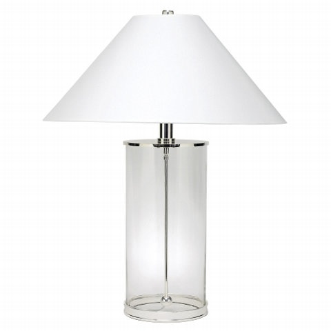 MODERN GLASS CYLINDER TABLE LAMP