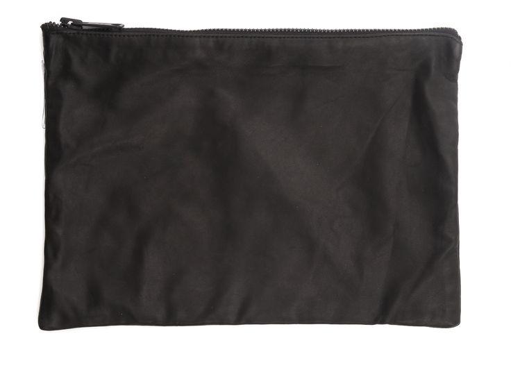 Leather clutch/cosmetics bag