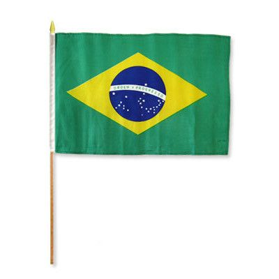 FlagsImporter Brazil Traditional Flag and Flagpole Set