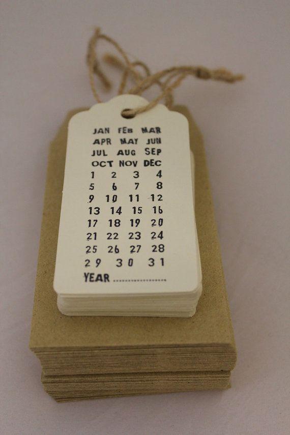 Tag kalender Diy