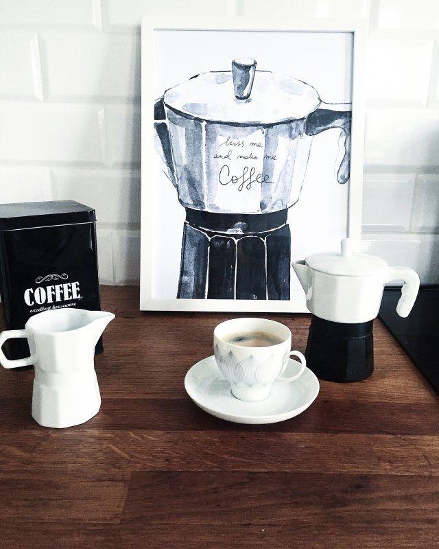 kiss me and make me coffee poster