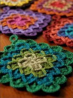 crochet pattern - wool eater pot holder / trivet