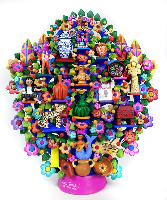 Mexican Art and Handycrafts Tree of LIfe by Mexican Folk Art, via Flickr