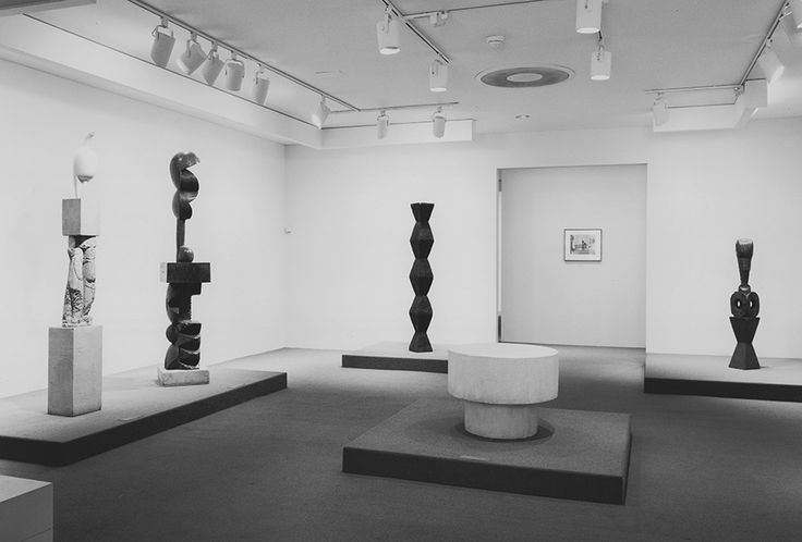 "#Mousse61 #MousseMagazine Artist's Choice: Burton on Brancusi installation views at The Museum of Modern Art, New York, 1989. New York, Museum of Modern Art (MoMA). Gelatin-silver print, 6 1/2 x 9"" (16.5 x 22.9 cm). Photographic Archive. The Museum of Modern Art Archives, New York. Cat. no.: IN1514.2.© 2017. Digital image, The Museum of Modern Art, New York / Scala, Florence. Photo: Mali Olatunji"