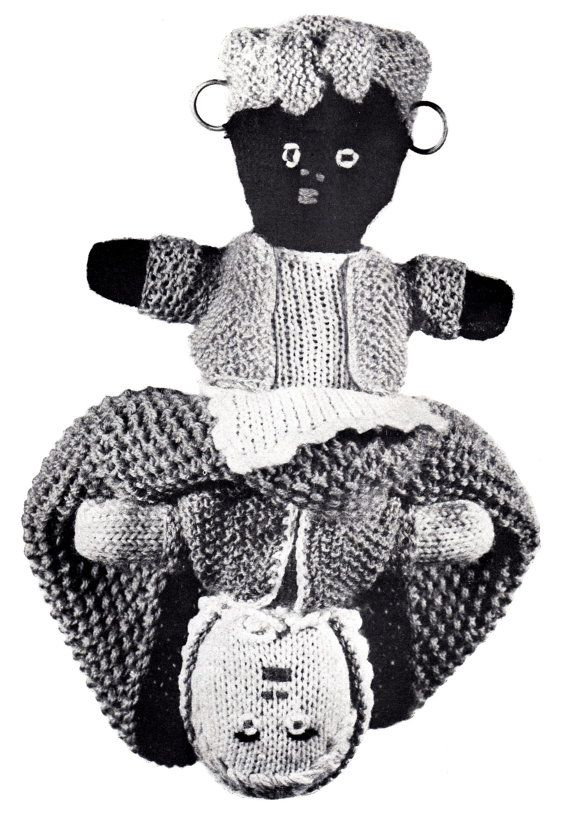 PDF Pattern / Knitted Toply Turvey Doll / by LoveFromNewZealand